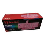 Kit Teclado, Mouse, Diadema, Mouse Pad Marvo Cm418 Rosa