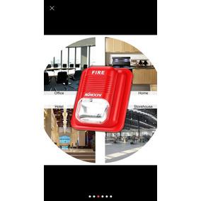 Alarma Contra Incendio/sismo Kit Estrobo Y Estacion Manual