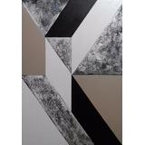 Quadro Decorativo!pintura A Mão!! Abstrato Geométrico !50x70