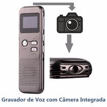 Gravador De Voz Digital Espião Com Câmera Microsd
