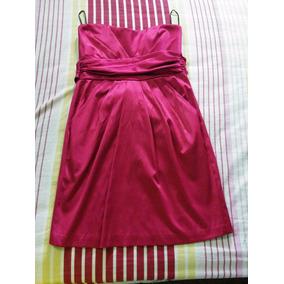 Vestido Usado Casual, Color Vinotinto, Corto, Talla S