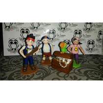 Muñecos Para Torta, Jake Y Los Piratas Del Nunca Jamas