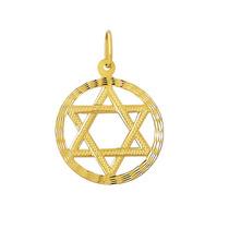 Pingente Estrela De Davi De Ouro 18k Médio 4 Cm