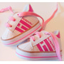 Blanco con rosa deportivas