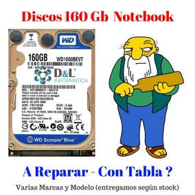 Disco Rígido Notebook 160gb Sata2 Netbook Notebook A Reparar