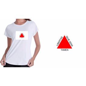 Camisa Camiseta Baby Look Branca Minas Gerais Bandeira Minas
