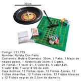 Ruleta C/paño En Caja