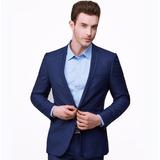 Ternos Masculinos Slim Fit Casamento Gravata 3d Cor Azul