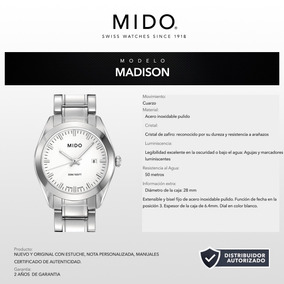 Pulso Mido M0122101101100 Madison Cuarzo Suizo 28mm Bauer