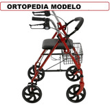 Andador Ortopedico C-ruedas Asiento Y Canasto Morón-ramos