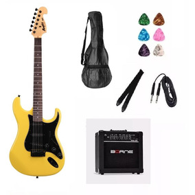 Kit 11 Itens Guitarra Tagima Strato Mg32 An Cubo Borne Capa