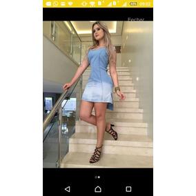 Vestido Jeans Com Ilhos Bmnas Costas Codlm1016