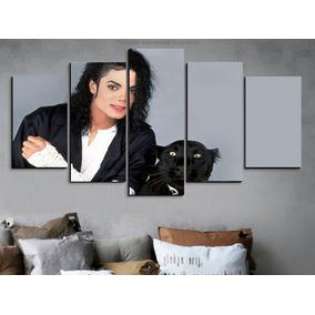 Painel Quadro 5 Partes Michael Jackson Puma 160cm X90cm