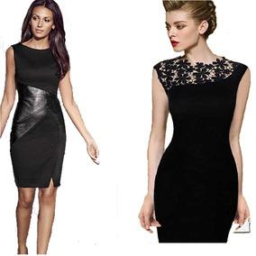 Vestidos Femininos Renda Social Clássico Longuete Kit 2 Peça
