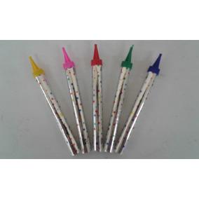 Vela Magica Color Para Pastel Cumpleaños 17cm 100 Pzas