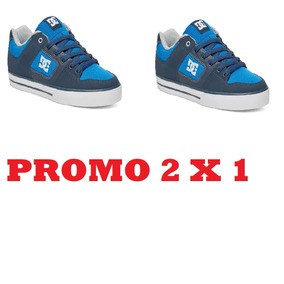 Promo 2 X 1 Zapatillas Dc Shoes Pure (ngh)navy Grey Skate