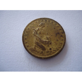 Moeda Bronze Alumínio 1000 Mil Réis 1927 Nacional
