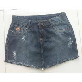 Mini Saia Jeans Desfiada Sem Laycra Lindo Modelo Tamanho 38