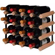 Adega Rack Suporte Vinho 16 Garrafas Madeira Pinho