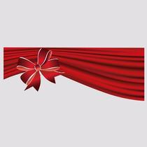 Adesivo De Vitrine Faixa De Natal Para Campanhas Em Lojas