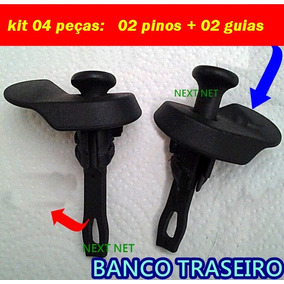 Kit Banco Traseiro Puxador Pino + Moldura Peuge 206 207 -564