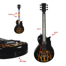 Encendedor Recargable Guitarra Electrica Fuego Llama Luz Led