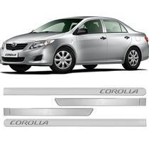 Friso Lateral Corolla 08 09 10 11 2012 2013 Prata Super Nova