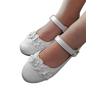 Sapato Sapatilha Branco Menina Infantil Batizado Noivinha