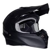 Casco Para Motocross Fassed  Fs-607 Negro Mate