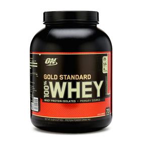 Proteína On Gold Standard Sabor Fresa 100% Whey 5 Lbs