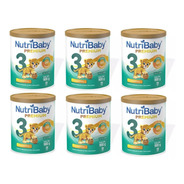 6 Latas Leche Nutribaby 3 Premium + De 12 Meses X 900 Gr