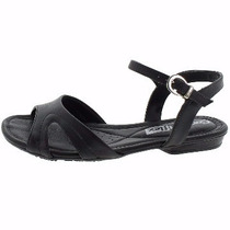 Sandalia Comfort Flex Preta