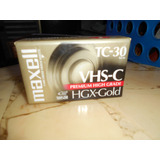 Videocasete Vhs-c Maxell Hgx Gold Sellado