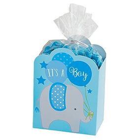 Azul Es Un Niño Baby Shower Favor Cajas (8 Ct)