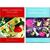 Lote 2 Libros Kandinsky - Punto Y Línea Sobre El Plano