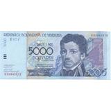 Billete De 5000 Bolívares 2004 Serial E8