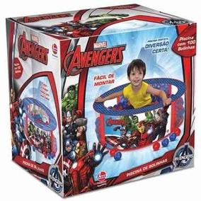 Piscina De Bolinhas Vingadores Avengers - Com 100 Bolinhas