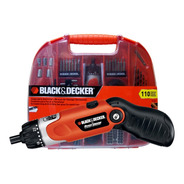 Atornillador Inalambrico Black Decker 3.6v 110pzs Fdx100