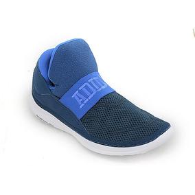 11bb3742-botitas adidas Cloudfoam Plus Zen Azul Blanco