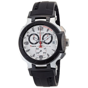 Tissot Mens T0484172703700 T-race Quartz White Chronograph D