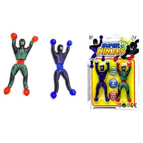 Boneco Super Ninja Gruda Gruda 9.5cm Com 2 Pecas