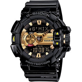 G-shock Mens Gba400 Gmix Rotary Switch Ble Watch, Black/gold
