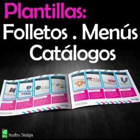 Catálogos, Folletos, Trípticos, Menú Plantillas Editables!!