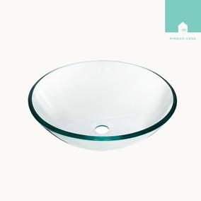 Cuba Banheiro Vidro Temperado Redonda Incolor 35 Cm F