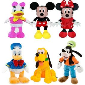 Kit Com 6 Pelucia Turma Do Mickey Mouse 30 Cm Antialergico