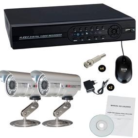 Kit Monitoramento Residencial E Comercial 2 Câmeras Infra