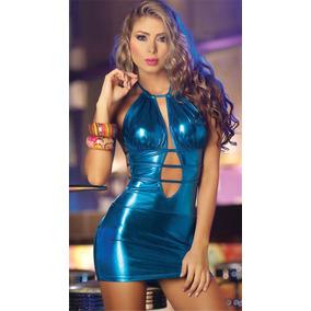 Hermoso Mini Vestido En Azul Para La Fiesta