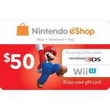 Codigo Digital Nintendo Eshop 50 Usd Nintendo Eshop Card 50