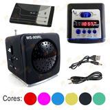 Mini Mp3: Pen Drive,rádio Fm,usb. Speaker System Ws 909 Rl.