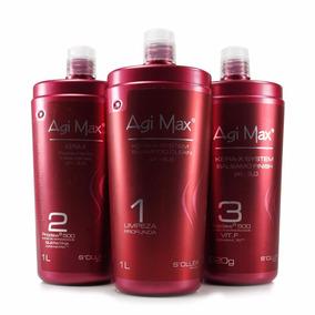 Agi Max - Red Kit Escova Inteligente Kera-x 3x1000ml